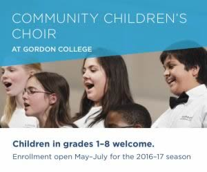 Gordon College Community Children's Choir Wenham MA