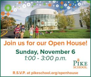 Pike School in Andover Open House. An independent, coed, day school for pre-kindergarten through ninth grade.