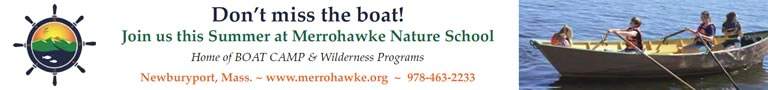 Merrohawke Nature School offers land a sea-based Summer programs for kids ages 4 through teen in Newburyport!