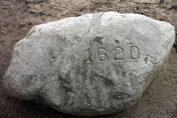 Plymouth Rock is the Centerpiece of Pilgrim Memorial State Park