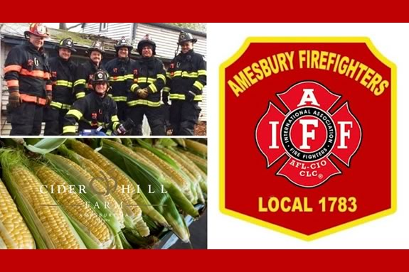 Families are invited to the Amesbury FD's Corn Cookoff at Cider Hill Farm in Amesbury Massachusetts