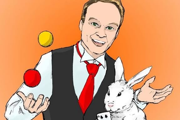 The Hamilton-Wenham Public Library invites all to a fun family-oriented magic show during February Vacation week!