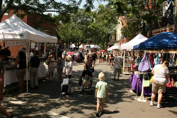 Downtown Gloucester Sidewalk Bazaar - Family Fun in Massachusetts. Photo ©Bill O'Connor