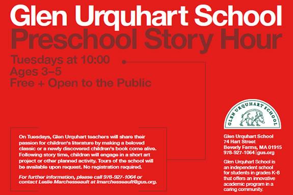 Glen Urquhart School Preschool Story Hour