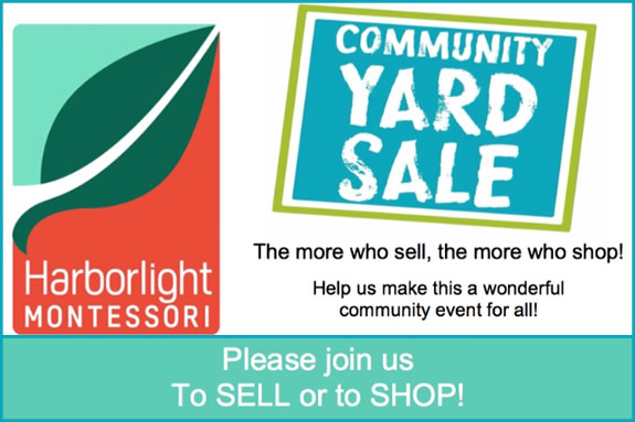Community Yard Sale at Harborlight Montessori School in Beverly MA