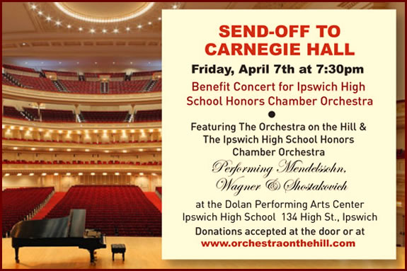 Come see the Ipswich Honors Chamber Orchestra