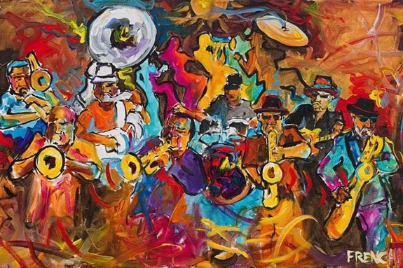 The Jambalaya Horns bring New Orleans Jazz to Castle Hill on the Crane Estate in Ipswich Massachusetts!