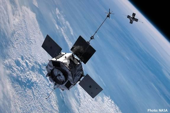 Come learn how to spot satellites at the Ipswich River Wildlife Sanctuary. Photo: NASA