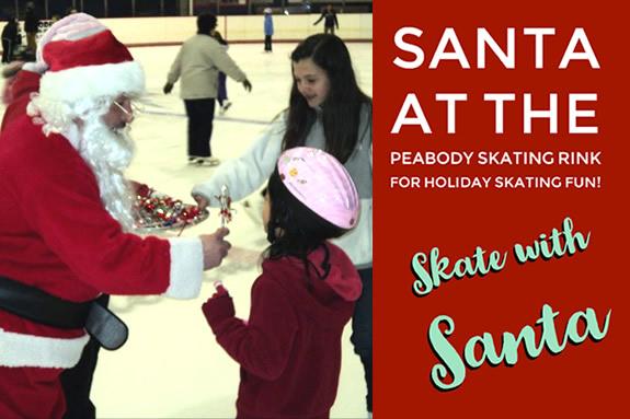 Ice Skate, Skating Rink in Peabody MA. Learn to Skate, Skate With Santa