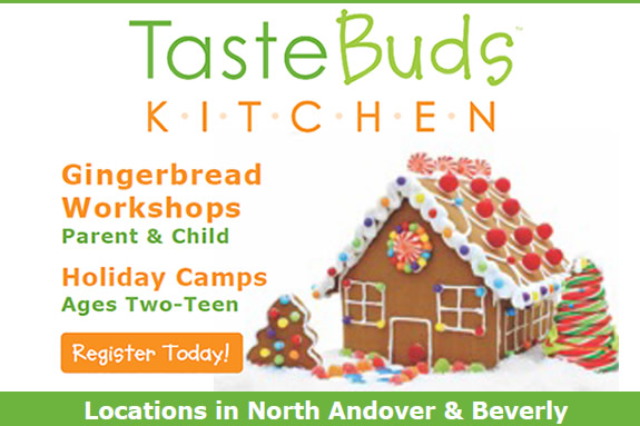 Gingerbread House Workshop at Taste Buds Kitchen in Beverly MA