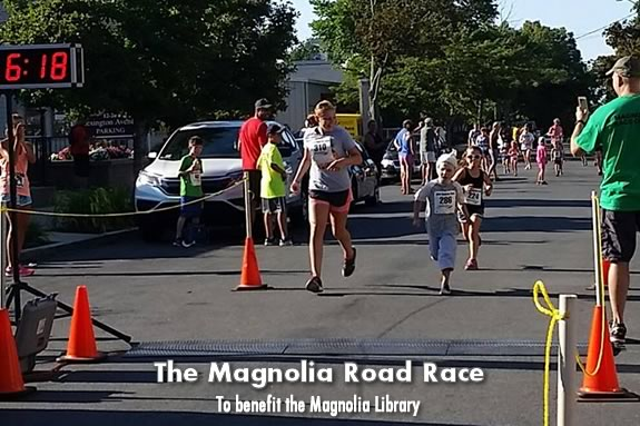 The Annual Magnolia Road Race and Fun Run benefits the Magnolia Library!