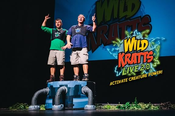 Come to the Lynn Auditorium to see Wild Kratts Live 2.0 live performance show!