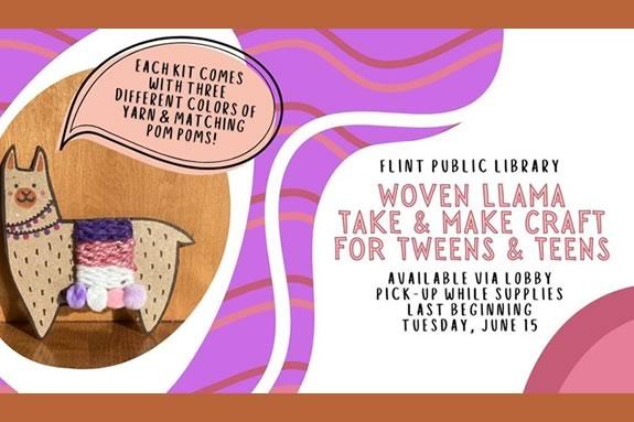 Flint Public Library holds a yarn crafting Flint Public Library holds a yarn crafting take and make kits for teens and tweens! for teens and tweens!