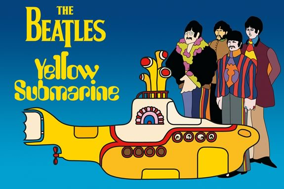 Come See the Beatle's Yellow Submarine on the waterfront in Gloucester Massachusetts