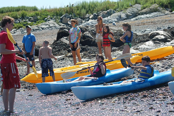 Children's Island is 1 mile of the coast of Marblehead and managed by the YMCA