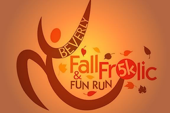 The Fall Frolic 5k is a rain or shine race held at Beverly's Lynch Park!