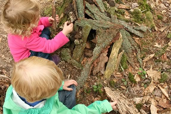 Kids will learn to build fairy houses with natural materials at Lynch Park, Beve
