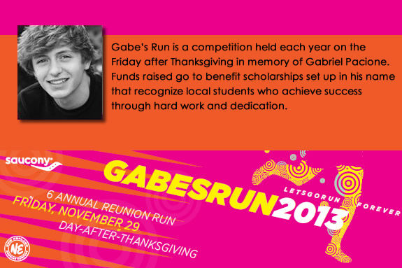 Gabe's Run is held annually on the Friday after Thanksgiving at Patton Park in H