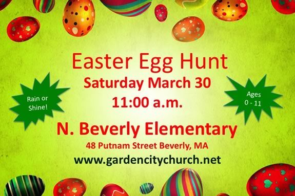 Come to a FREE Easter Egg Hunt in North Beverly for kids