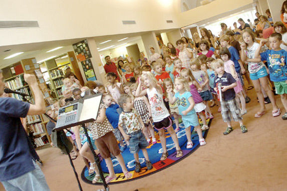 children's music program at Manchester Ma Library