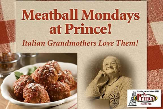 """Meatball Monday"" To Go at Prince Pizzeria in Saugus!"