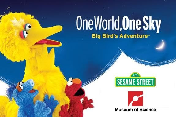 Big Bird and Elmo introduce kids to the stars at the Museum of Scinece Boston!