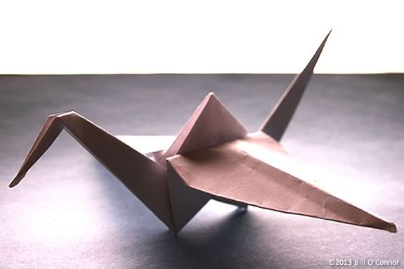 Paper Origami Cranes are probably the most common form of origami bird.