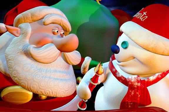 Santa vs. the Snowman will be playing at MOS Boston through December 31!