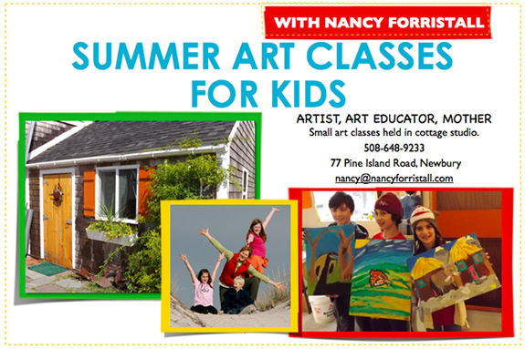 Summer art classes for kids in Newburyport MA