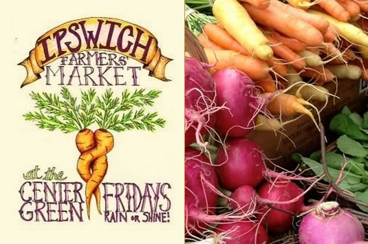 The Ipswich Farmers Market is every Friday 4-7pm on the South Village Green