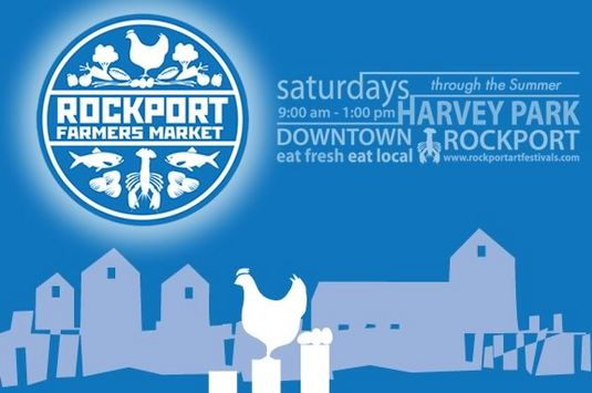 The Rockport Farmers' Market runs every Saturday in Harvey Park in Downtown Rock