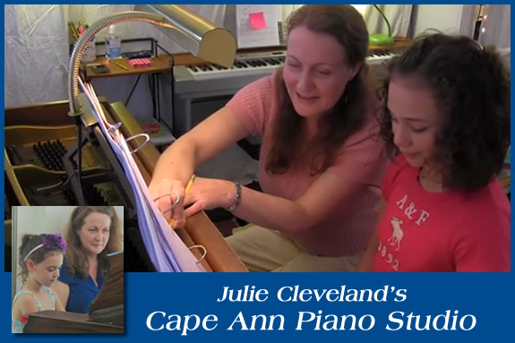 Julie Cleveland Piano Lessons for North Shore Children and Families. Northshore