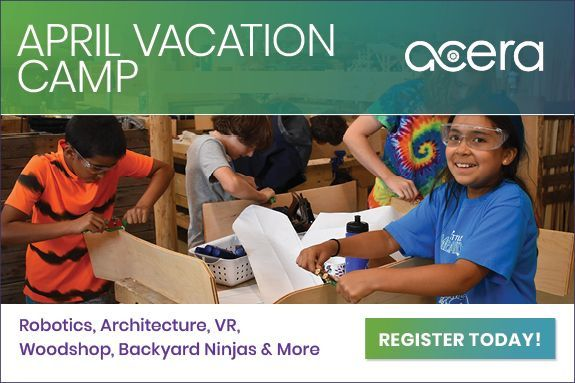 April Vacation Camp, Robotics, Architecture, VR, Woodshop, Backyard Ninjas, at Acera School
