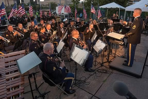 Listen to The 215th Army Band of the Massachusetts Army National Guard at the Danvers Family Festival Concert