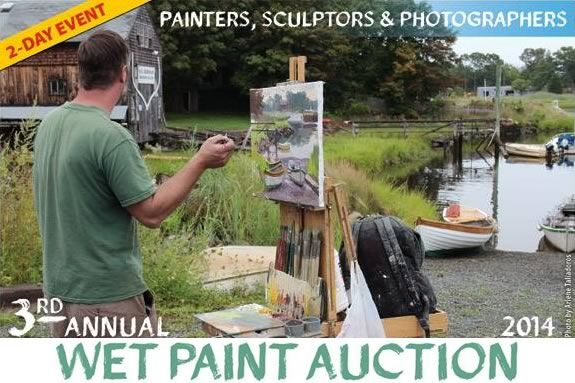 Artists will descend upon Essex Ma to create a masterpiece to sell at auction, w