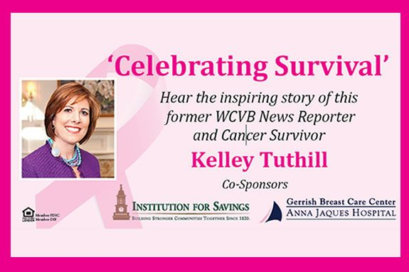 Join Former WCVB Reporter and Breast Cancer Survivor Kelley Tuthill at the October Newburyport Chamber Luncheon