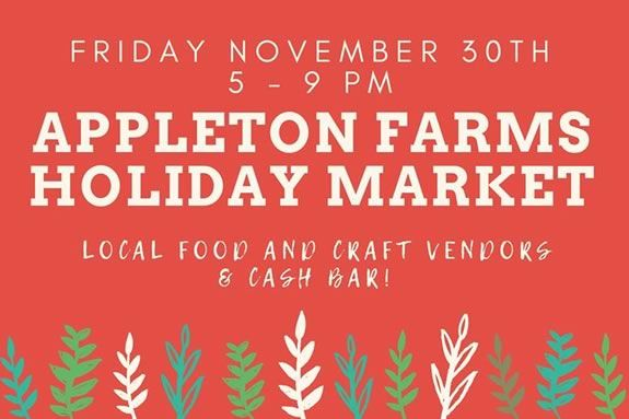 The Trustees of Reservations host the Appleton Farms Holiday Market in Ipswich Massachusetts