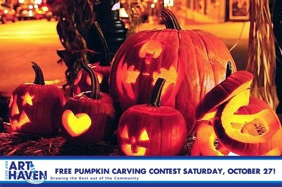 Cape Ann Art Haven is hosting a FREE Pumpkin Carving Party - come create art wit