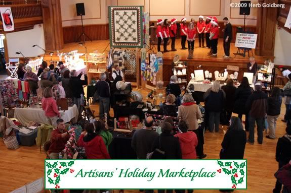 Find unique hand made gifts at Abbot Hall in Marblehead -Artisans Holiday Market