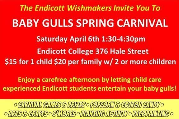Baby Gull Spring Carnival at Endicott College in Beverly Massachusetts
