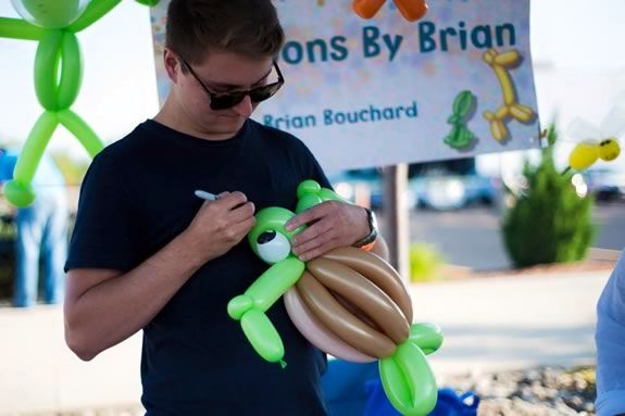 """ce cream sundaes, lots and lots of ice cream, and the very special appearance of """"Balloons by Brian"""" creative balloon artist."""