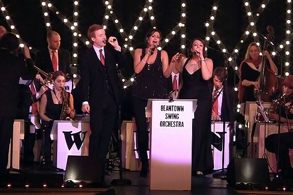 The Cioty of Peabody hosts a Holiday Concert with Beantown Swing at City Hall!