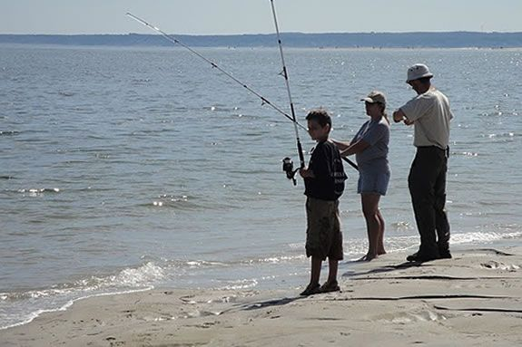 Plum Island Beach in Newvburyport is an excellent spot to try fishing in the surf.