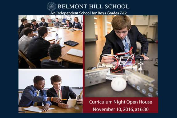 Belmont Hill School An Independent School for Boys Grades 7-12.