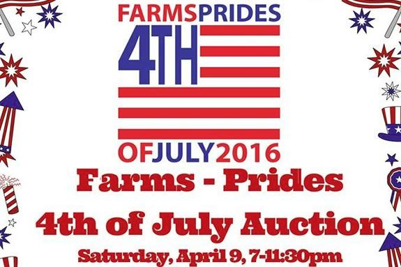 Auction proceeds support the Beverly Farms-Prides Crossing 4th of July Celebration events.