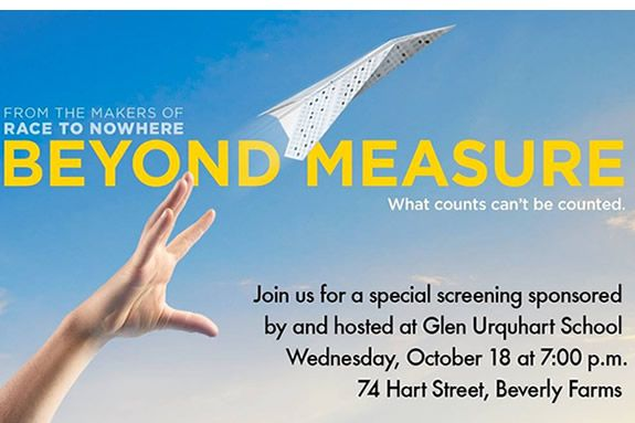 Parent Education Screening and Discussion of Beyond Measure at Glen Urquhart School in Beverly MA