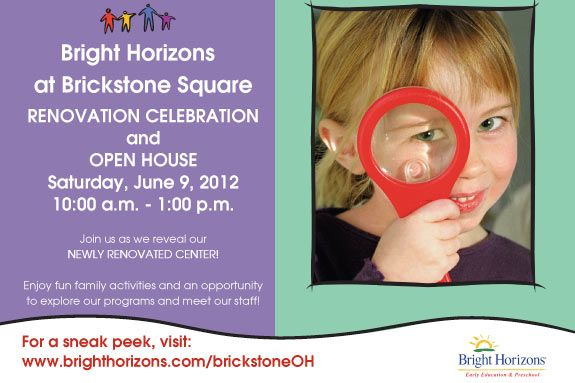Bright Horizons Renovation Celebration and Open House Brickstone Preschool Andov