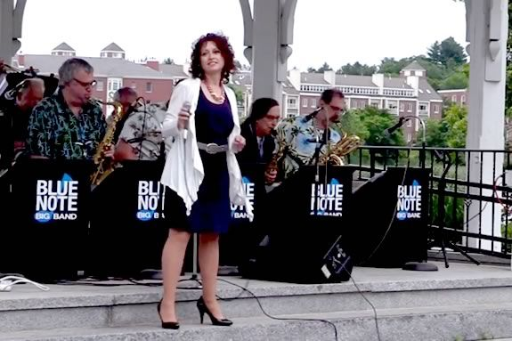 Blue Note Big Band at waterfront park in Newburyport as part of Yankee Homecoming
