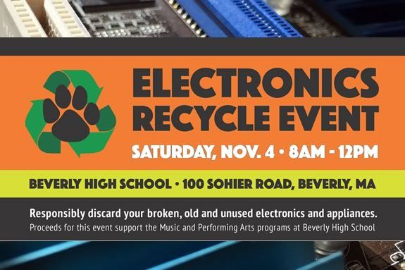 Recycle your old electronics and help the Beverly High School Music Department