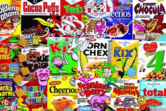 Breakfast Cereal Bar and cartoons at Newburyport Public Library